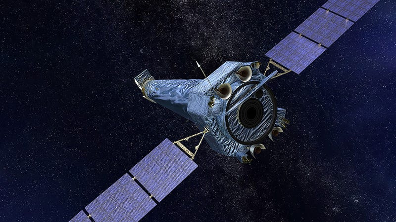 Artist's concept of Chandra X-ray Observatory.