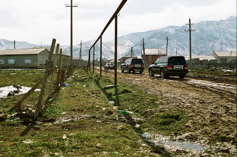 A road in Dagestan, though to the north and west of the Georgian border by a few hours. Photo Credit: Un Bolshakov