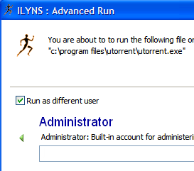Illustration for article titled Advanced Run Opens Programs as Another User