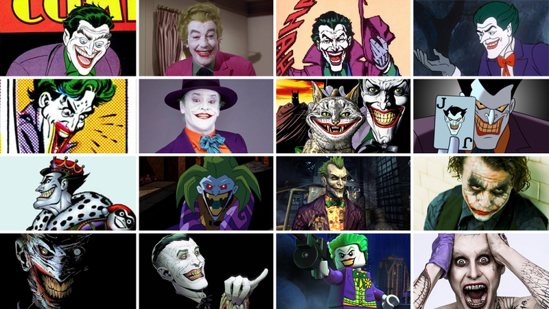 Illustration for article titled The Complete History Of The Joker's Many, Many Incarnations