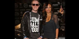 Maximillion Cooper and rapper Eve in London (Danny Martindale/Getty Images Entertainment)