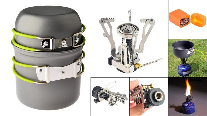 Petforu Camping Stove and Cookware Set, $18 with code 5OXSOMNV
