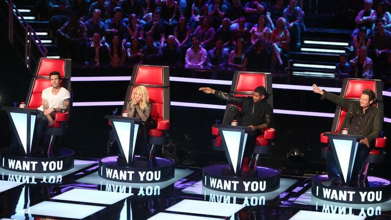 """Illustration for article titled The Voice: """"Blind Auditions Première"""""""