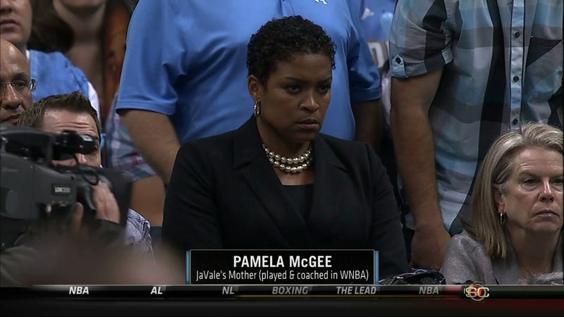 Illustration for article titled JaVale McGee's Mom Does Not Approve Of You Fouling Her Son