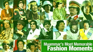 Illustration for article titled Muammar Gaddafi's Most Memorable Fashion Moments
