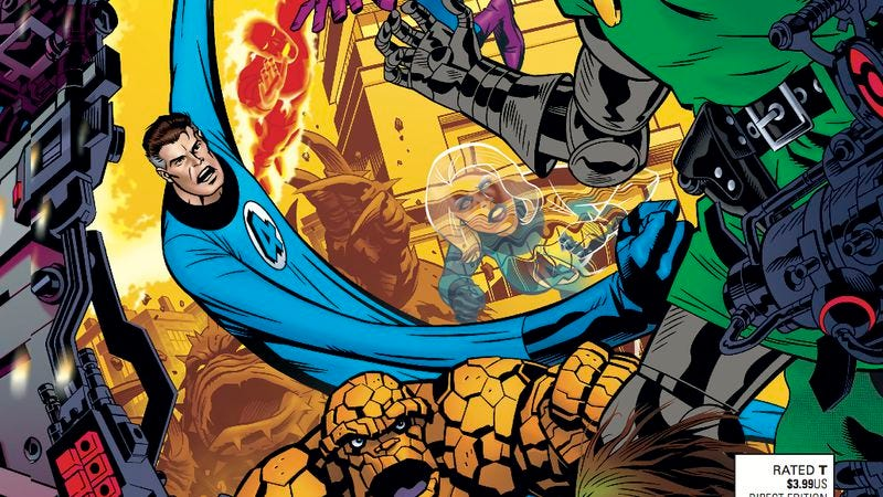 Illustration for article titled Exclusive Marvel preview: Fantastic Four winds down with a slew of guest stars