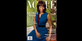 Michelle Obama on the cover of the April 2013 issue of Vogue (Annie Leibovitz/Vogue)