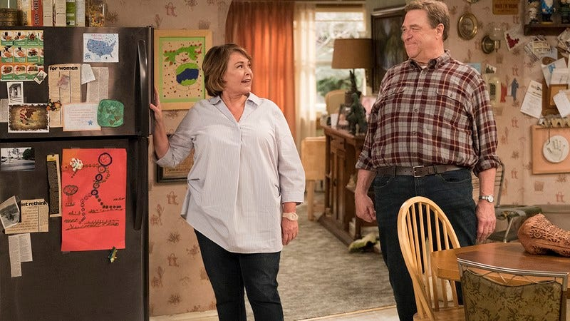 Illustration for article titled All Of Roseanne Barr's Real-Life Husbands, Tom Arnold, MechaTomArnold, And Vietnamese Tom Arnold, Appeared On The Show: Everything You Need To Know About 'Roseanne'