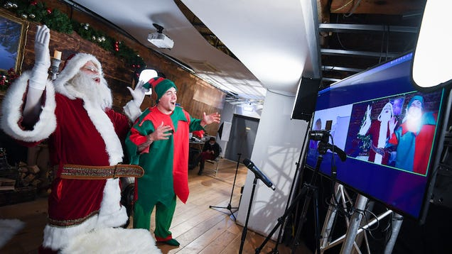 Yes, Virtual Santa Claus Meet and Greets Are Happening on Zoom