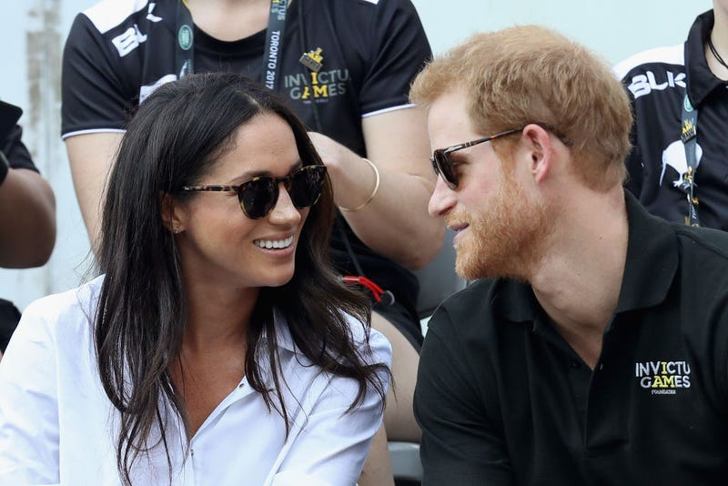 Meghan Markle and Prince Harry attend a Wheelchair Tennis match during the Invictus Games 2017 at Nathan Philips Square in Toronto on Sept. 25, 2017. (Chris Jackson/Getty Images for the Invictus Games Foundation)