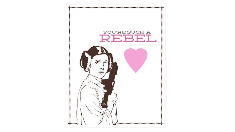 Illustration for article titled The Force is strong with these printable Star Wars valentines