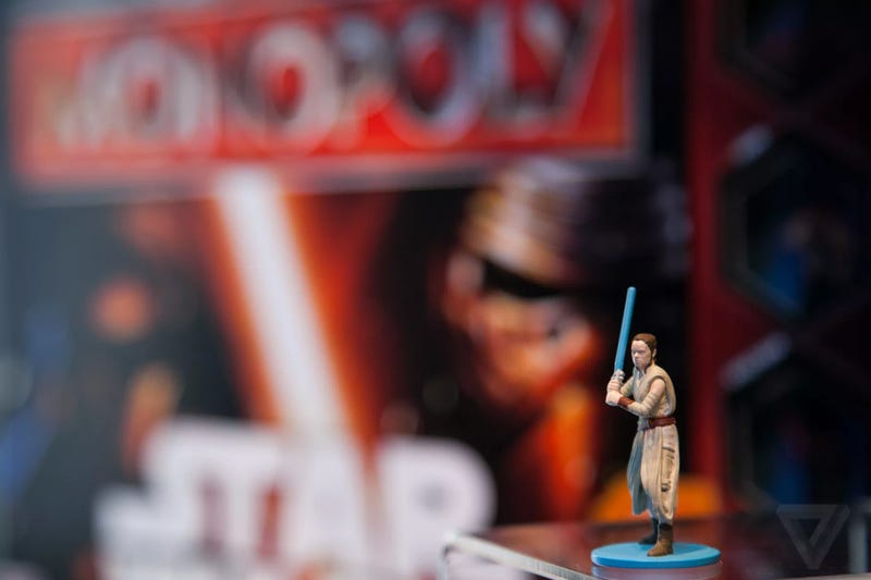 The Rey Monopoly figure at New York Toy Fair. Image: The Verge