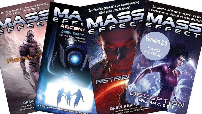 """Illustration for article titled BioWare to """"Patch"""" Error-Laden Mass Effect Novel in Response to Fan Uproar"""
