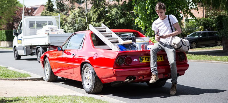 Some Maniac Is On The Loose In London A Quest To Transform Great Cars Into Ultimate Wheels And He S Just Taken An Angle Grinder 1989 Ferrari 412