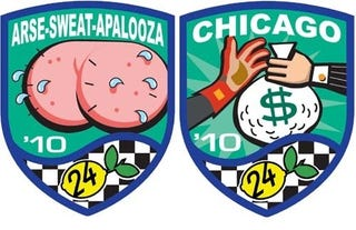Illustration for article titled Once-Respectable Racers Defile Their Nomex Suits With LeMons Race Patches