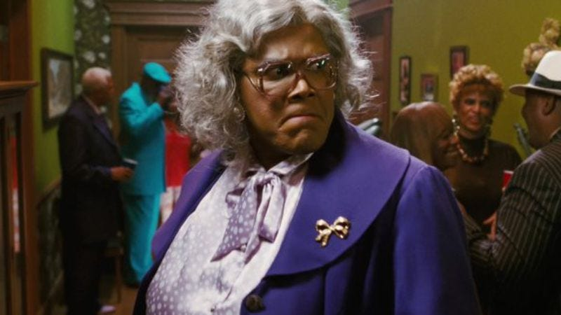 Illustration for article titled Tyler Perry's next Madea film will look at economic inequality while giving it one of those side-eyed frowny faces