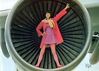Illustration for article titled When Airplane Stewardesses Were All Glamour and Sex Appeal
