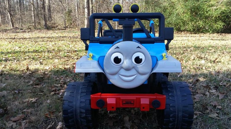 Illustration for article titled I built a lifted thomas the tank jeep