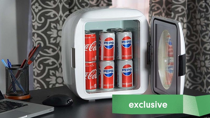 Illustration for article titled Keep Your Snacks To Yourself With This $59, Car-Compatible Mini Fridge [Exclusive]