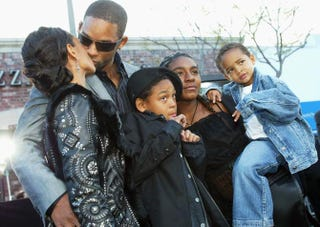 Jada Pinkett Smith and Will Smith with their family in 2003Kevin Winter/Getty Images