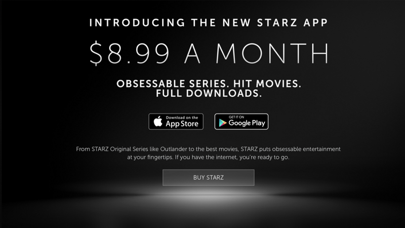 Illustration for article titled Starz Launches Streaming Service With Original Shows, Big Movies For $8.99 a Month