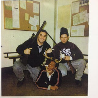 Officers Jerome Finnigan and Timothy McDermott, posing with the unidentified suspectCourt File/Chicago Sun-Times