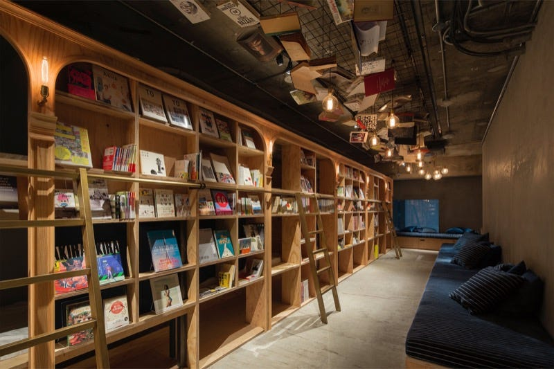 Illustration for article titled The Tokyo Hostel That Looks Like a Bookstore