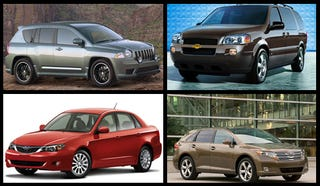 Illustration for article titled The Ten Ugliest Cars Currently Sold In The United States