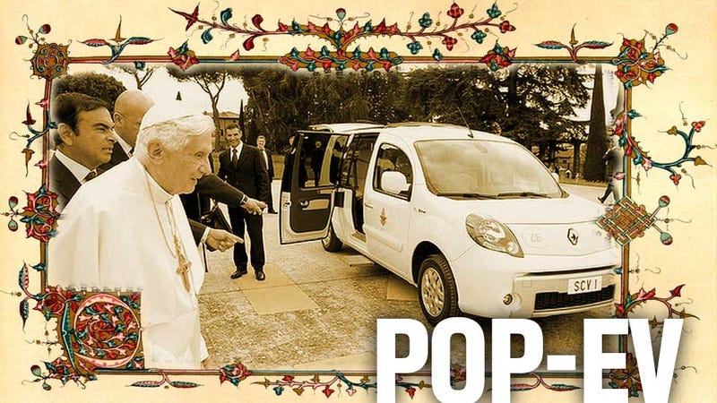 Illustration for article titled This Is The First Electric Popemobile