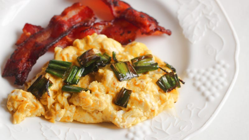 Illustration for article titled Fried Leek Greens Are Excellent on Scrambled Eggs