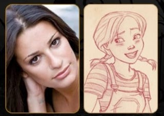 Illustration for article titled Glee meets Oz: First look at Lea Michelle's Dorothy in the animated Wizard of Oz sequel