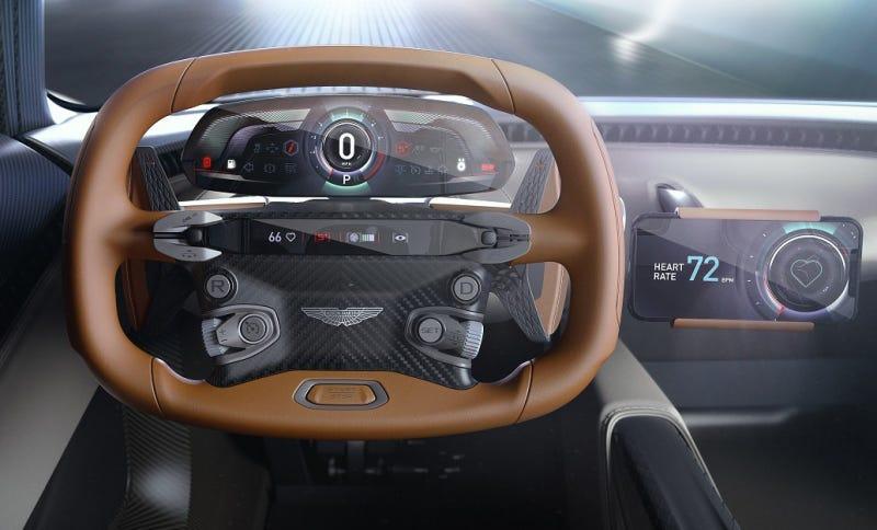 Illustration for article titled El nuevo superdeportivo de Aston Martin no tiene pantalla en el tablero: usa tu smartphone en su lugar