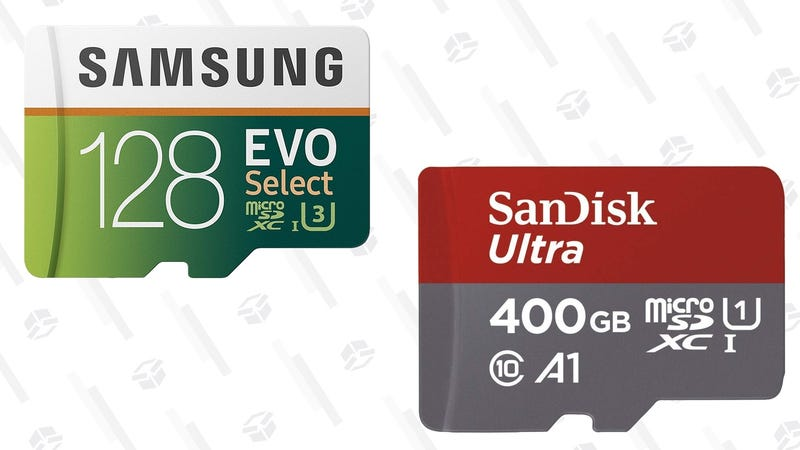Samsung U3 32GB MicroSD Card | $6 | AmazonSamsung U3 64GB MicroSD Card | $11 | AmazonSamsung U3 128GB MicroSD Card | $20 | AmazonSanDisk Ultra 128GB MicroSD Card | $18 | Amazon