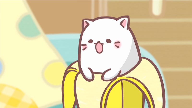 Illustration for article titled New Cat-Banana Anime Is Weirdly Popular