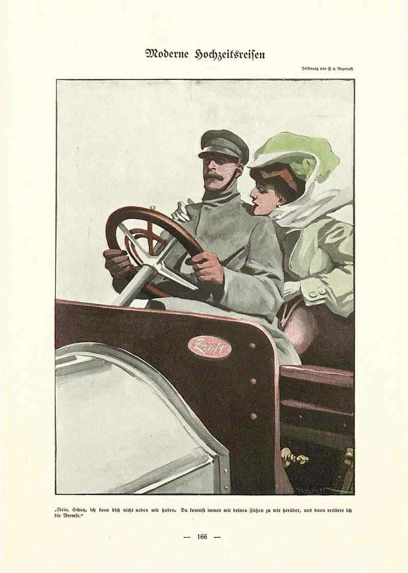 Illustration for article titled The Gearhead Forever Alone Meme, From 1907