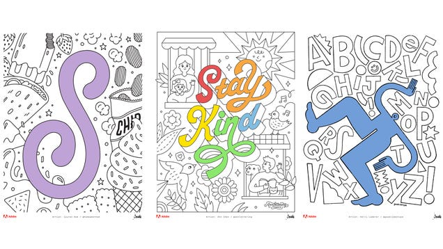 Adobe Releases a Free Coloring Book So You Can Color Through It