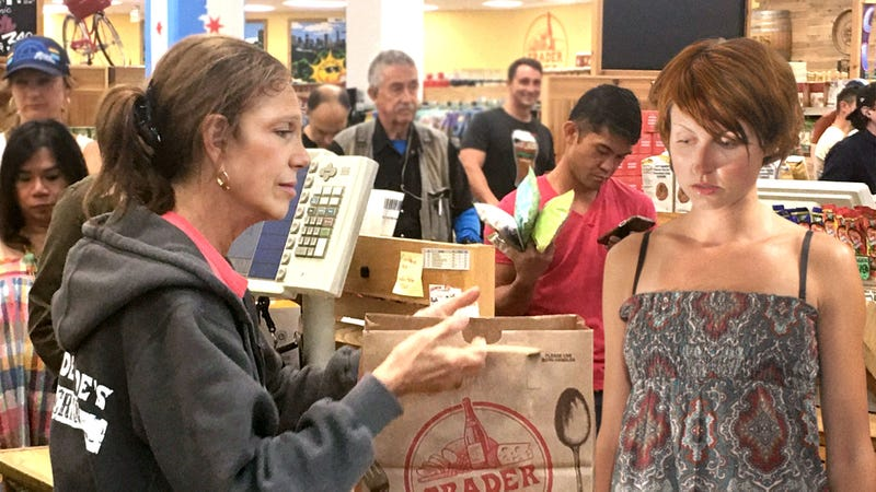 Woman Spirals Into Vortex Of Self-Doubt After Trader Joe's Cashier Does Not Compliment Any Of Her Selected Items