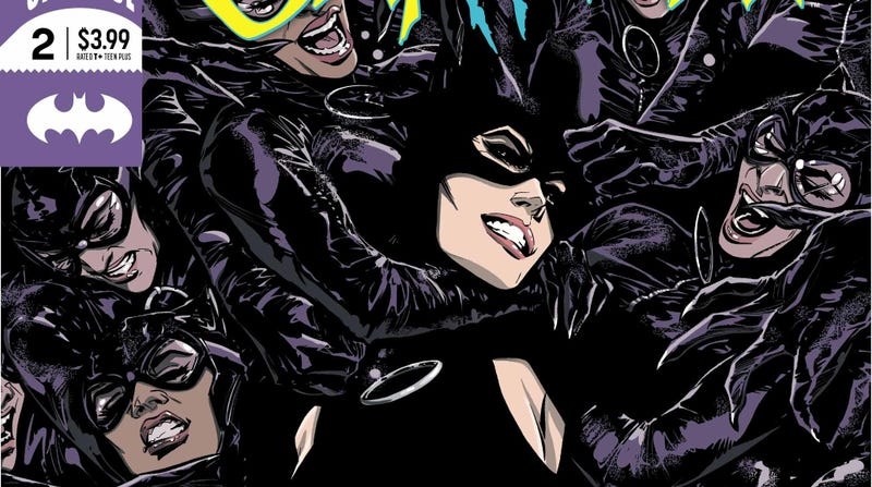 Illustration for article titled Selina Kyle takes on a gang of copycats in this Catwoman #2 exclusive