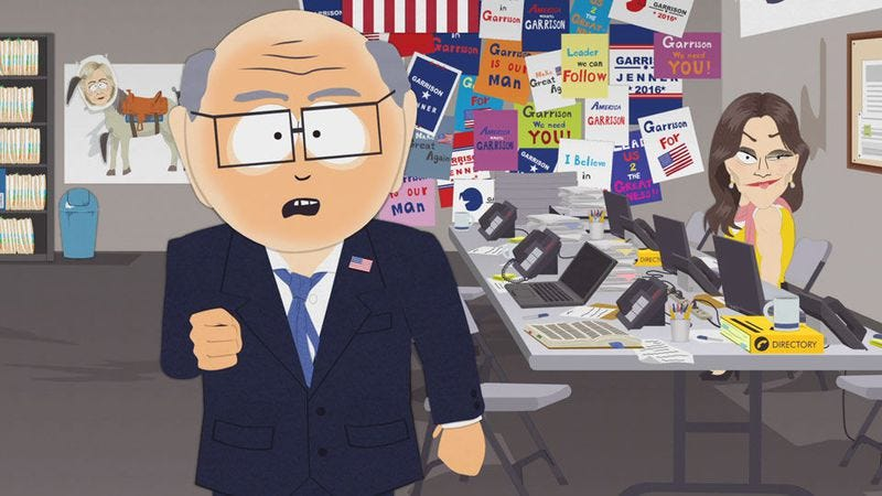 Illustration for article titled In the wake of the election, even South Park can't think of much to say
