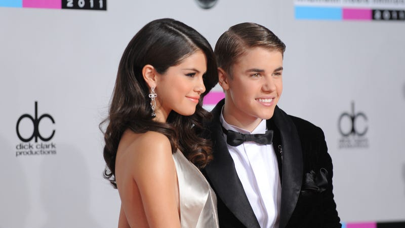 Gomez and Bieber in 2011 when they were a couple. Image via the AP.