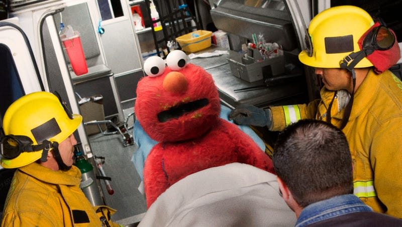 Illustration for article titled Paramedics Didn't Realize How Hard It Would Be To Cut Drunk Woman Out Of Elmo Costume