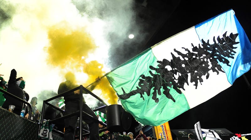 Illustration for article titled Report: MLS Escalates Dumb Fan Feud, Suspends Portland Timbers Supporters For Waving Iron Front Banners [UPDATE]