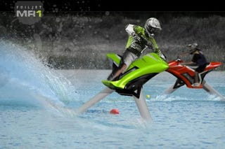Illustration for article titled FoilJet MR1 Hydrofoil Jet Ski: Like Riding a Motorcycle on Water