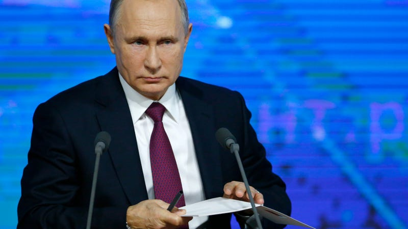 Russian President Vladimir Putin, 2018.