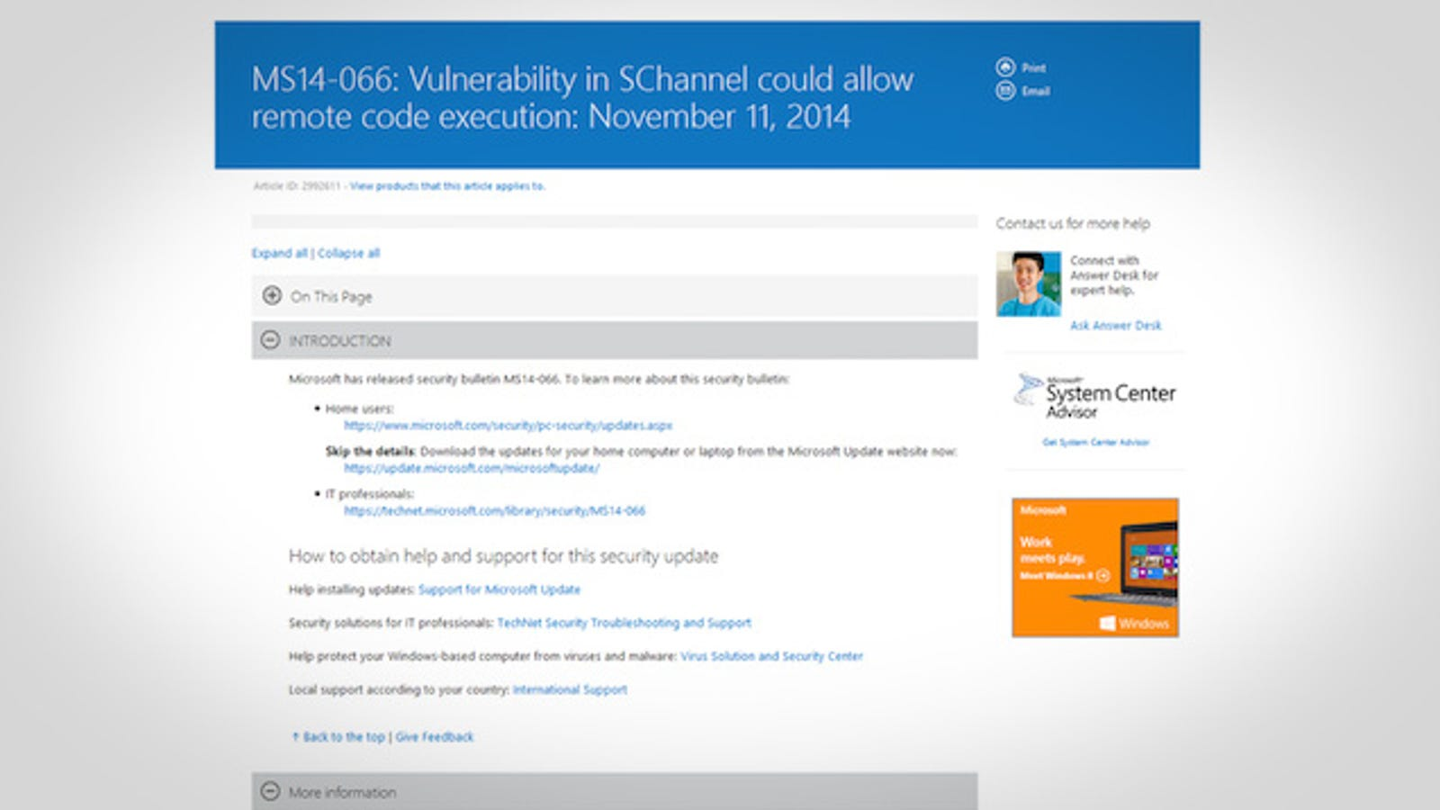 Microsoft Posts Patch for Critical Vulnerability, Download
