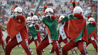 Members of the Florida A&M University marching band in 2013CBS News screenshot