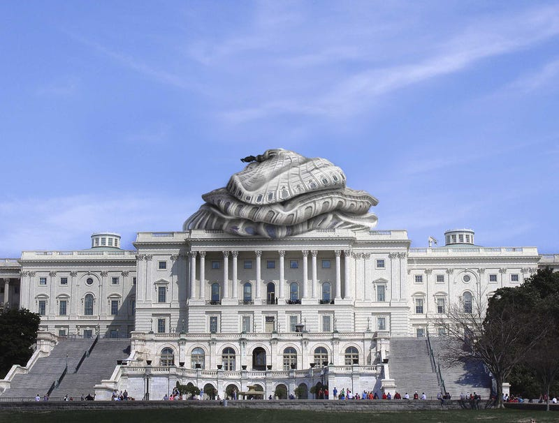 Illustration for article titled Capitol Building Dome Deflates