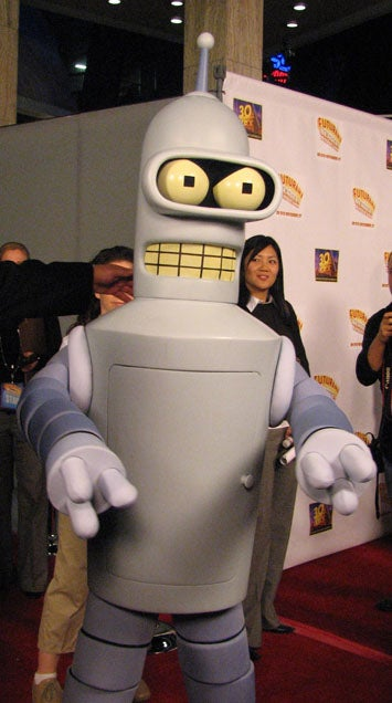 Illustration for article titled Futurama Release Party Brings Out Paparazzi