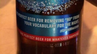 Illustration for article titled New Bud Light Tagline: 'Remove 'No' From Your Vocabulary for the Night'