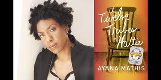 Author Ayana Mathis (Elena Seibert); cover of The Twelve Tribes of Hattie (Alfred A. Knopf)